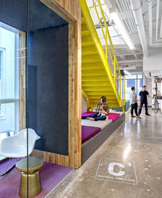 Vivid Office Space by Studio O+A staircases unique opportunities design #office #design #space #work