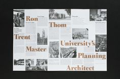 Looks hard to read.....  ||  Trent University Architecture Walking Tour Editorial #layout