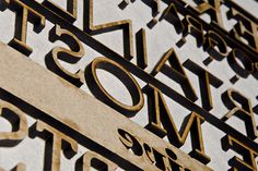Typographic wood cut relief printing plates