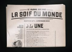Café Du Monde | The Design Ark #print #branding #newspaper #caf du monde