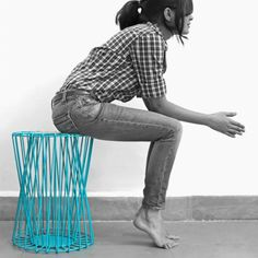 Design Xcent Stool Cum Side Table Skeletal
