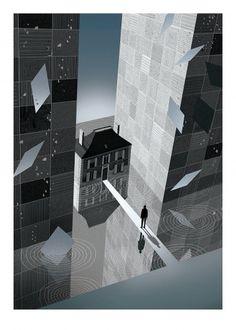 BAFTA 2011 Program Cover - Inception. #illustration