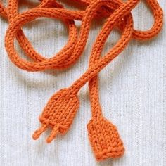 KnitKnit :: Reserved for netzky -Orange Power Cord - Images - ThisNext #cord #knit
