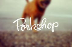 Porkchop Identity - Custom Typography - for Melbourne Photography Studio - Mila