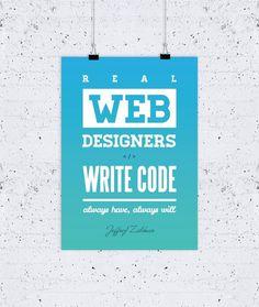 Web Designers Write Code poster