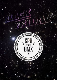 Black Friday | ANDREAS HOUMANN #bmx #friday #design #graphic #black #poster #type