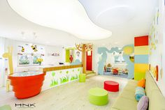 Dental clinic for children with a gorgeous design Dent Estet 4 Kids - Hamid Nicola Katrib - www.homeworlddesign. com (5) #design #interiors #clinic #dental #kids