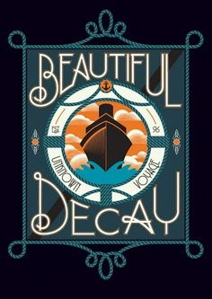 Beautiful/Decay #logo #lettering #poster #typography
