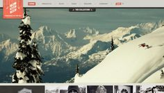 Moment Skis Web design inspiration from siteInspire #website #sports #snow #ski