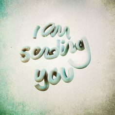 Sending you on the Behance Network #typography