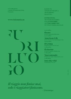 Fuoriluogo by Mimmo Manes, via Behance #canefantasma #typography #poster