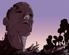 The Statue part I on the Behance Network #illustration