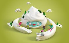 http://www.benoitchalland.com/project/f-f-s/ #illustration #snow #3d #characters