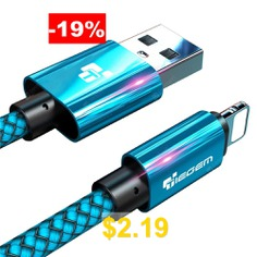 TIEGEM #USB #Cable #for #iPhone #6 #6s #7 #8 #Plus #X #XS #XR #2A #Fast #Charging #Cables #- #BLUE