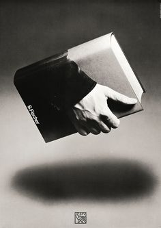 Book Posters by Gunter Rambow #white #literature #book #float #black #read #poster #and #surreal #hand #hold