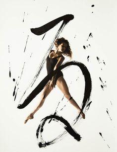 Rurubu – Dance and Calligraphy #typography #calligraphy