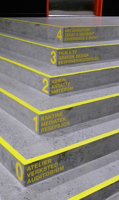Wayfinding Westerdals on Behance #sign #way #signage #finding