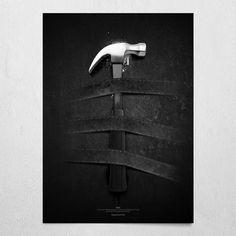 #hata #black #poster #wallart #hammer #bernardshaw