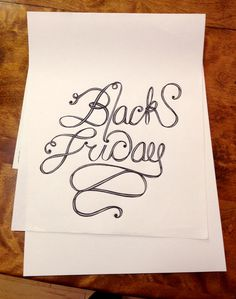 Black Friday #ink #lettering #friday #black #illustration #type #swords #hand #typography