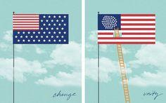 flags #illustration #color #texture #concept