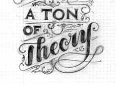 A Ton Of Theory - Logo Sketch #logo #handmade #drawing #sketch