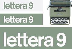 Dezeen » Blog Archive » Lettera 9 by Demian Conrad #logotype