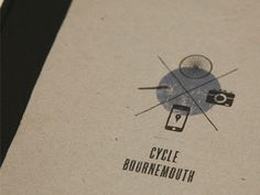 Dribbble - Cycle Bournemouth by Benjamin Hutchings #cycle #print #logo #bournemouth #typography