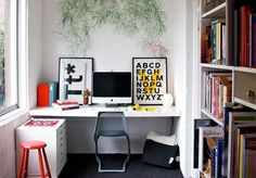 Home Office, Apartment Therapy #mount #built #office #home #wall #ins #workspace