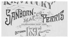 Sanborn maps logo Paducah 1897