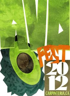 Novelty Cross// #2012 #festival #poster #avocado
