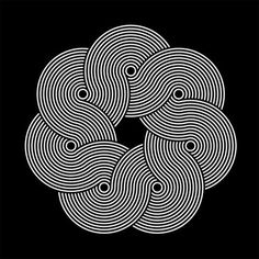 pattern experiment on the Behance Network #geometric #pattern #bw #flow #absract