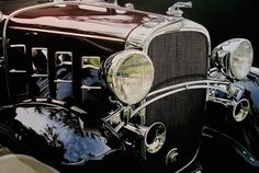 Realistic Old Polished Cars Paintings -9 #painting #car #art #realistic