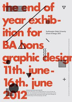 Poster #print #graphic #poster #typography