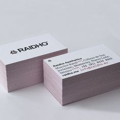 New business cards. Printed by @latipografica #raidho #latipografica #letterpress #aesthetics #triplex #cards #raidhomx