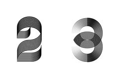 36 Days of Type by Alejandro Mejias #Typography #Numbers #Lines