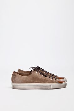 Buttero Tanino Low Suede Beige | TRÈS BIEN #shoes #italian #sneakers #leather #buttero