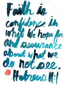 Hebrews 11:1 #watercolor #ballasiotes #hebrews #typography