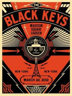 Black Keys Live - OBEY GIANT #conciert #print #obey #poster