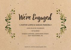 Rustic Garden - Engagement Invitations #paperlust #engagement #engagementinvitation #invitation #engagementcards #engagementinspiration #we