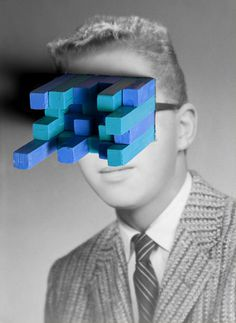 Graphic Porn #photo #manipulation #vintage #blocks #blue #collage