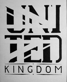 United Kingdom - Handlettering + Vector on Behance #flag #type #black