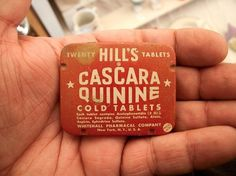 All sizes | Cascara Quinine. | Flickr - Photo Sharing! #orange #retro #tablets #draplin #vintage #futura #typography