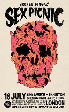 Designersgotoheaven.com - SEX PICNIC by Broken Fingaz. #fingers #picnic #broken #skull #sex
