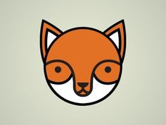 Dribbble - Round Fox by Tim Krause #fox #tim #geometric #illustration #krause #circle