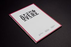 Portfolio of Luke Robertson | Over & Over #aperu #luke #design #graphic #book #robertson #catalogue #typography