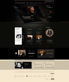 Rzeszow Philharmonic on the Behance Network #website #online #site