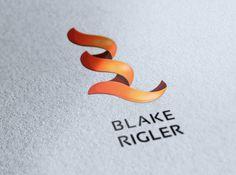 Blake Rigler Identity on Behance #brading #identity #logo #logotype #fire #flame #blake #cards