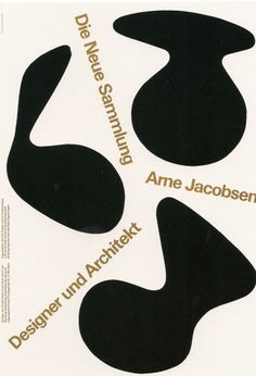 All sizes | Arne Jacobsen Designer und Architekt | Flickr - Photo Sharing! #print #design #graphic #poster