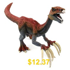 Classic #Dinosaur #Toy #Jurassic #Dinosaur #World #Attack #Scythe #Model #- #BROWN