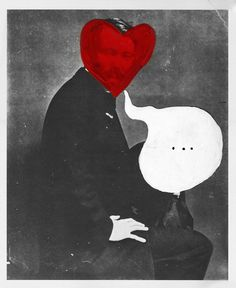 Ben Grandgenett - Valentine Illustration #heart #illustration #portrait #valentine